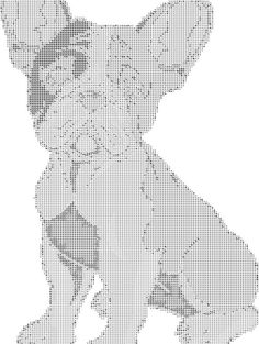 Boston Terrier: Seated Boston Terrier Cross Stitch Pattern and