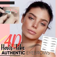 Still struggling to fill shape your brows every day?🤢😥Want feathery eyebrows with realistic hair strands INSTANTLY? NO PAIN, NO Hair-like Authentic Eyebrows adopt one-step application to cr Eyebrow Hair Loss, Eyebrow Makeup Tips, Skin Makeup, Makeup Eyebrows, Drawing Eyebrows, Plucking Eyebrows, Eyeliner Hacks, Eye Brows, Makeup Hacks