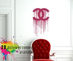 miss dior cherie wall sticker wall mural decal by on wall logo decal id=47024