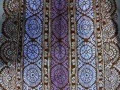 "Marimekko Finland Maija Isola ""Dombra"" Fabric in Blue Shades (maybe original fabric was a batik)"