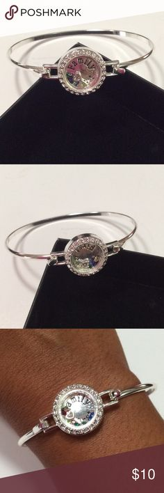 Family First Floating  Bracelet Beautiful silver tone floating charm bracelet. Avon Jewelry Bracelets