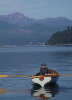Rowing in the Hood Canal. Peaceful!