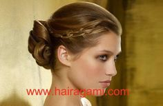 Pretty updo for upcoming formals in the back to school year ahead