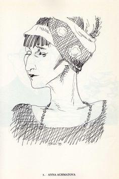 Tullio Pericoli  Anna Achmatova