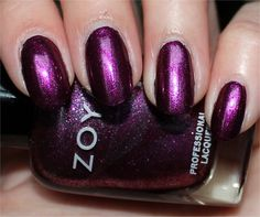 Carly by Zoya is a decadent, royal-looking purple that's vampy without looking like it's black in dim lighting. Description from swatchandlearn.com. I searched for this on bing.com/images