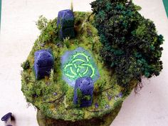 Hobby Terrain, Table top gaming, John Salmond, Terrain Tutorial, Circle Orboros, Floating Earth, Sacred Ground