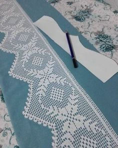 Very Popular Modern Crochet 20 Lace Pike Model - Thoughts & Ideas & Suggestions Crochet Edging Patterns, Filet Crochet Charts, Crochet Borders, Crochet Motif, Crochet Doilies, Crochet Flowers, Knitting Patterns, Crochet Bedspread, Crochet Tablecloth
