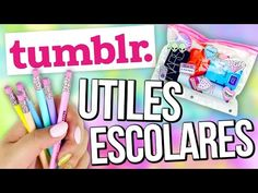 Decora tus UTILES ESCOLARES estilo TUMBLR! - DIY - YouTube