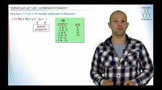 Ontbinden in factoren - Product-Som Methode - WiskundeAcademie