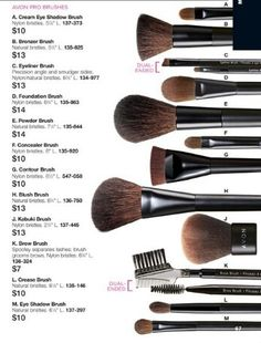 All Avon Pro Brushes are on Sale. Buy 1 get 1 half off.  #brushes #sale #makeupmusthave #bogo #glamour #beauty #probrushes