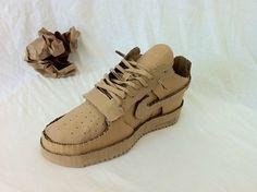 cardboard shoe.