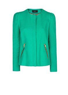MANGO - CLOTHING - Jackets - Textured cotton-blend jacket via @InStyle Magazine