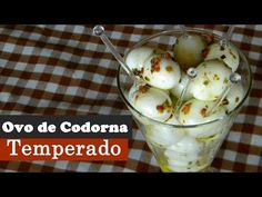 Ovo de Codorna Temperado - YouTube Cocktail Party Food, Pasta, Mashed Potatoes, Appetizers, Low Carb, Thanksgiving, Pudding, Eggs, Cooking