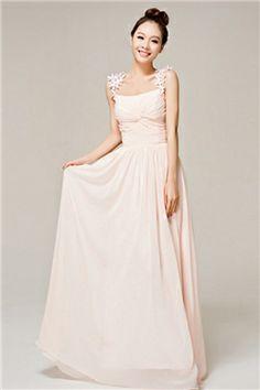Gorgeous A-Line Floor Length Straps Prom Dresses