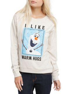 Disney Frozen Olaf Warm Hugs Girls Pullover Top   Hot Topic