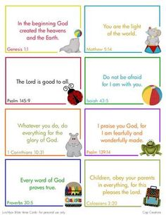 Printable bible verses you can put inluch boxes or give before school Bible Verses For Kids, Verses For Cards, Printable Bible Verses, Free Printable, Kids Memory Verses, Scripture Verses, Preschool Bible Verses, Preschool Lessons, Quran Verses