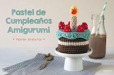 crochet tutorial for amigurumi cake ♥ Crochet Cake, Crochet Food, Crochet For Kids, Diy Crochet, Cupcakes, Cupcake Cakes, Birthday Fun, Birthday Cake, Patterned Cake