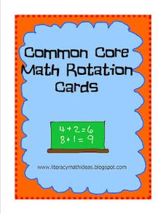 This First Grade Common Core Math Rotation document contains 42 Common Core Math vocabulary cards, a Common Core Math journal template, portfolio progress forms, and Common Core Math rotation cards.