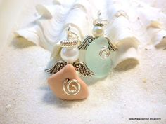 Sea Glass Beach Glass Angels from the shores of by beachglassshop, $20.00