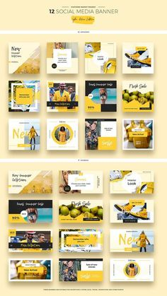 Yellow Autumn Social Media Designs by Evatheme Market on Creative Market media marketing design ideas Social Media Ad, Social Media Banner, Social Media Template, Social Media Design, Social Media Graphics, Social Media Marketing, Social Media Measurement, Marketing Poster, Social Media Trends