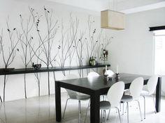 Modern Interior Dining Room Wall Murals Art