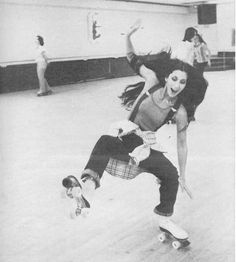 Cher Rollerskating...or falling :)