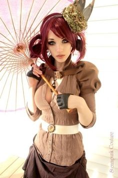 Steampunk strolling outfit