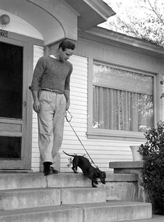 Marlon Brando with dachshund...for you, @Jill Meyers Balvin :) I didn't think you'd seen enough.... ;)