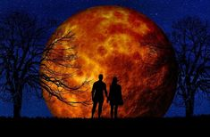 The Night of the Devil's Moon Sleepy Hollow New York, Eclipse Lunar, Fire Painting, Everything Has Change, Spiritual Healer, Soul On Fire, Moon Rise, Blood Moon, Galaxy Wallpaper