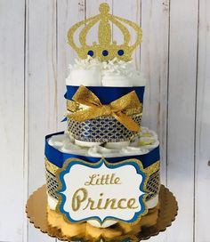 Prince Baby Shower Decoration little prince diaper cake | Etsy Baby Shower Cakes, Baby Shower Themes, Baby Boy Shower, Shower Ideas, Baby Shower Centerpieces, Baby Shower Decorations, Royalty Baby Shower Theme, Crown Cutout, Diy Diaper Cake