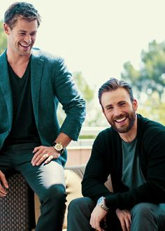 Chris Hemsworth and Chris Evans