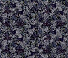 Crow Gather fabric by helenklebesadel on Spoonflower - custom fabric