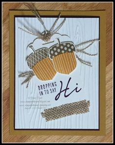 stampin up nuts about you stamp set. fall acorn card