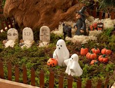 Halloween in the fairy garden