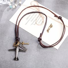Aliexpress.com: Buy Women Men Statement Jewelry Necklaces & Pendants Vintage Genuine Leather Plane Pendant Long Necklace for Women Dropshipping from Reliable Long Necklace Suppliers at Coostuff Unique Store