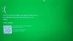 La pantalla de error color azul de Windows cambia a color verde   La pantalla más temida y característica deWindowsha decidido cambiar de color. La alarma la ha dado un usuario de Twitter que ha compartido una captura mostrando el nuevo estado cromático de la pantalla de error aunque con una peculiaridad: está disponible únicamente en la última versión Preview para desarrolladores.  Para ser exactos la versión 14997 es la que ofrece la nueva pantalla algo que ha confirmado la propia…