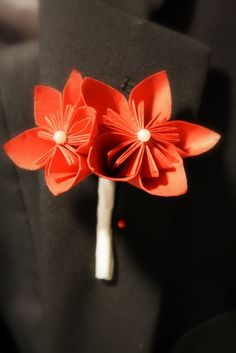 Your Custom Made to order Origami Boutonniere by myboutiquewedding, $10.00