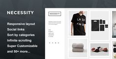Necessity  - Blog Tumblr  This could be cool with blocks of text interspersed with images