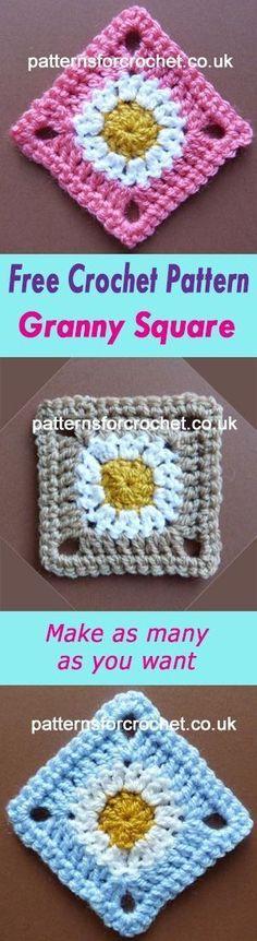 Square motif | use for blankets etc. | free crochet pattern | #crochet
