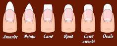 Esthéticienne à domicile beauté et tralala | Quelle forme d'ongles est pour moi?