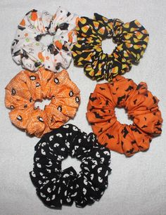 1 Large Handmade Scrunchie. Glow in the Dark Effect works best with a Black Light . Lighting in picture may change the look of the colors. | eBay!
