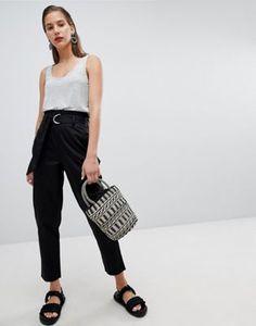 Pieces Paper-bag Waist Trouser