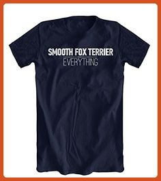 Smooth Fox Terrier Over Everything T-Shirt, Men's, Navy, Small - Animal shirts (*Partner-Link)