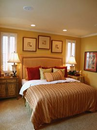 Love The Recessed Lights Above The Bed! The Wall Color Gives The Lights An  Even