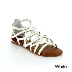 Top Moda Ra-2 Women's Gladiator Flat Sandals   Overstock.com Shopping - Great Deals on Sandals