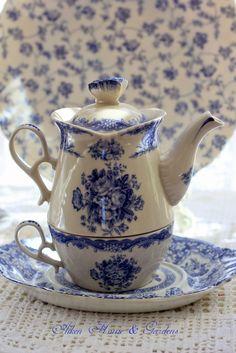 Blue and White teapot\Aiken House & Gardens