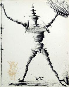 likeafieldmouse:  Salvador Dali- Don Quixote (1957)