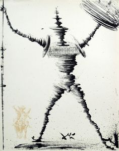 Salvador Dali - Don Quixote (1957)