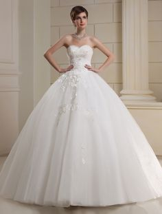 I think the shape is too disney for me.. current #3. Everything about this dress is perfect, shape, details. pretty even in white! [$279.99] White A-line Sweetheart Beading Tulle Bridal Wedding Dress
