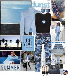 """Blue Camo"" by elegancerules on Polyvore"